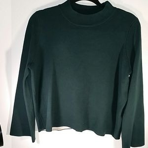 Top Shop cropped long sleeve green sweater